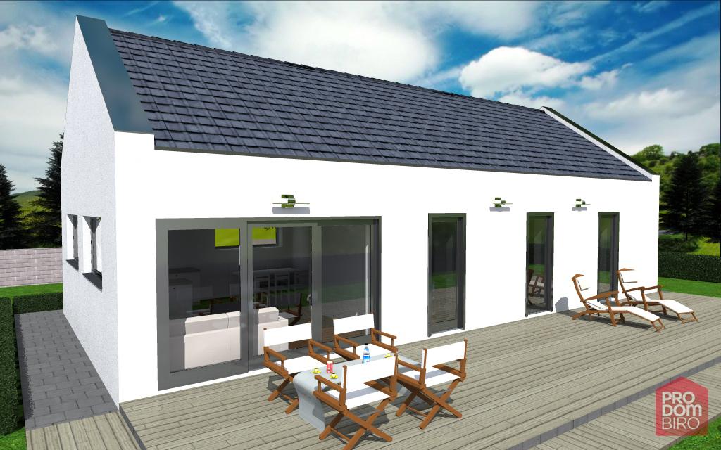 Nova gradnja stanovanjske hiše (Tipski projekt Neža s kletjo) – Sevnica